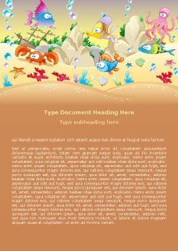 Under the Sea Word Template, Cover Page, 07745, Education & Training — PoweredTemplate.com