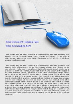 Electronic Book Word Template, Cover Page, 07746, Education & Training — PoweredTemplate.com