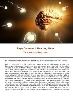 Idea Inception Word Template, Cover Page, 07747, Consulting — PoweredTemplate.com