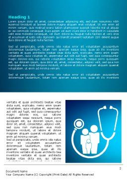 Family Medicine Word Template, First Inner Page, 07748, Medical — PoweredTemplate.com