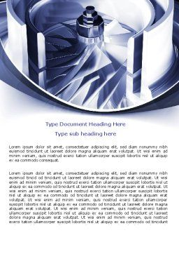 Turbine Word Template, Cover Page, 07749, Utilities/Industrial — PoweredTemplate.com
