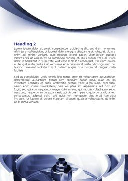 Turbine Word Template, Second Inner Page, 07749, Utilities/Industrial — PoweredTemplate.com