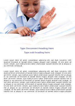 Learning Boy Word Template, Cover Page, 07751, Education & Training — PoweredTemplate.com