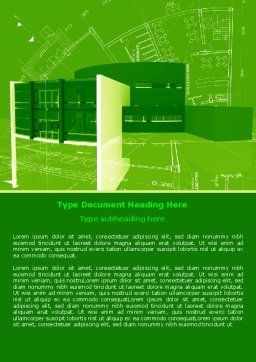 Building Layout Word Template, Cover Page, 07754, Construction — PoweredTemplate.com
