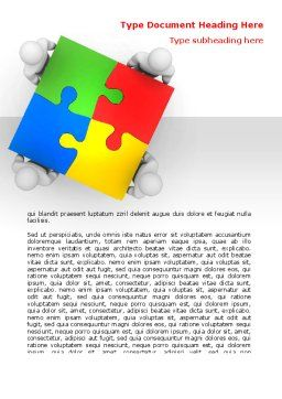 Puzzle Solved Word Template, Cover Page, 07757, Consulting — PoweredTemplate.com