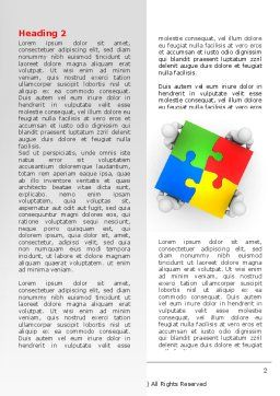 Puzzle Solved Word Template, First Inner Page, 07757, Consulting — PoweredTemplate.com