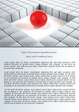 Surrounded Word Template, Cover Page, 07759, Business Concepts — PoweredTemplate.com