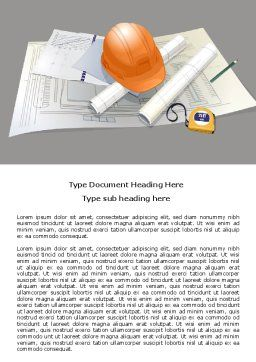 New House Planning Word Template, Cover Page, 07761, Construction — PoweredTemplate.com