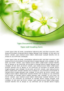 Spring Bloom Word Template, Cover Page, 07764, Nature & Environment — PoweredTemplate.com