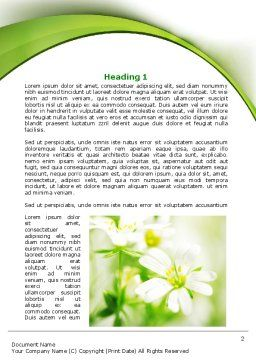 Spring Bloom Word Template, First Inner Page, 07764, Nature & Environment — PoweredTemplate.com