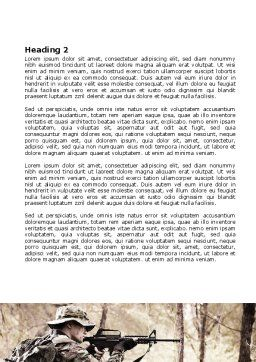 Camouflage Soldier Word Template, Second Inner Page, 07766, Military — PoweredTemplate.com