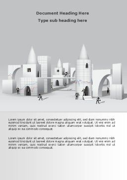 Business City Abstract Word Template, Cover Page, 07767, Consulting — PoweredTemplate.com
