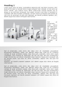 Business City Abstract Word Template, First Inner Page, 07767, Consulting — PoweredTemplate.com