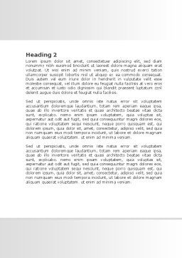Business City Abstract Word Template, Second Inner Page, 07767, Consulting — PoweredTemplate.com