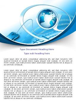 Internet Concept Word Template, Cover Page, 07768, Technology, Science & Computers — PoweredTemplate.com
