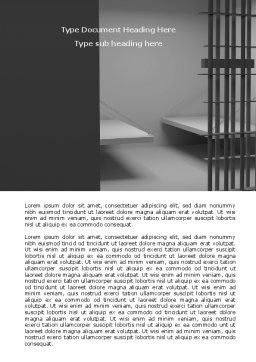 Prison Cell Word Template, Cover Page, 07771, Legal — PoweredTemplate.com