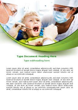 Children's Stomatology Word Template, Cover Page, 07773, Medical — PoweredTemplate.com