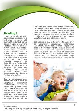 Children's Stomatology Word Template, First Inner Page, 07773, Medical — PoweredTemplate.com