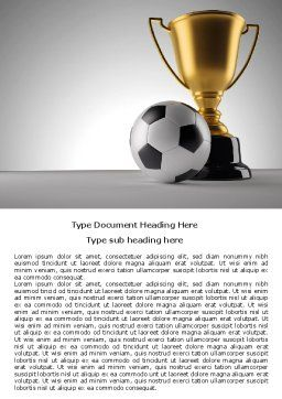 Football Cup Word Template, Cover Page, 07774, Sports — PoweredTemplate.com
