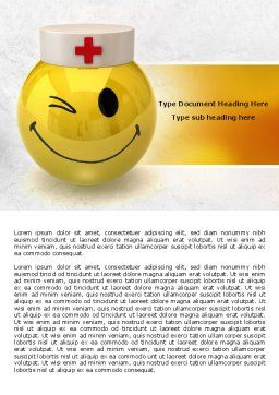 Doctor Emoticon Word Template, Cover Page, 07777, Medical — PoweredTemplate.com