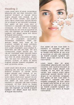 Skin Care Word Template, First Inner Page, 07778, Medical — PoweredTemplate.com