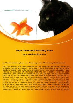 Fish and Cat Word Template, Cover Page, 07779, Business Concepts — PoweredTemplate.com