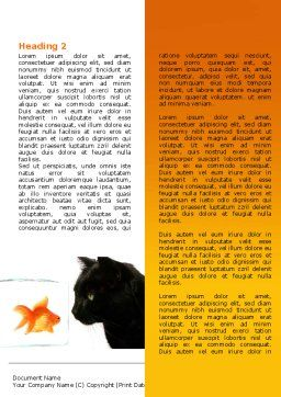 Fish and Cat Word Template, First Inner Page, 07779, Business Concepts — PoweredTemplate.com