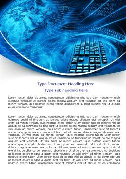 Keyboard Theme Word Template, Cover Page, 07780, Technology, Science & Computers — PoweredTemplate.com