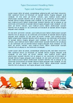 Deckchairs Word Template Cover Page