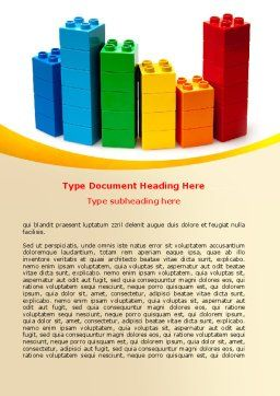 Lego World Word Template, Cover Page, 07788, Consulting — PoweredTemplate.com