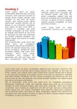 Lego World Word Template, First Inner Page, 07788, Consulting — PoweredTemplate.com