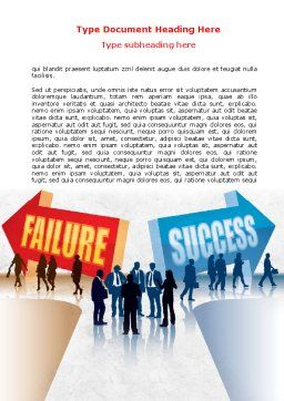 Failure and Success Word Template, Cover Page, 07789, Education & Training — PoweredTemplate.com