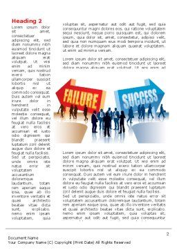 Failure and Success Word Template First Inner Page