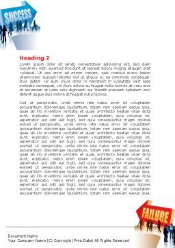 Failure and Success Word Template Second Inner Page