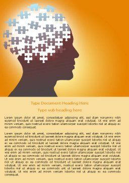 Puzzle Brain Word Template Cover Page