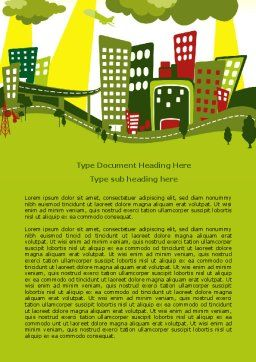 Green Infrastructure Word Template, Cover Page, 07792, Construction — PoweredTemplate.com