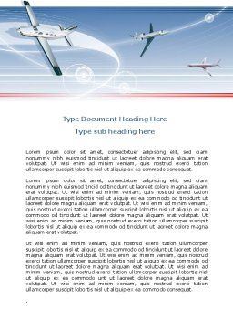 Air Transport Word Template, Cover Page, 07793, Cars/Transportation — PoweredTemplate.com
