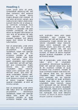 Air Transport Word Template, Second Inner Page, 07793, Cars/Transportation — PoweredTemplate.com