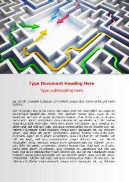 Solutions Word Template, Cover Page, 07796, Consulting — PoweredTemplate.com