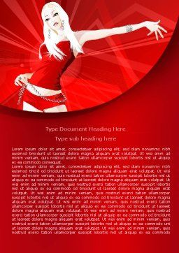 Girl in Red Word Template, Cover Page, 07798, Careers/Industry — PoweredTemplate.com