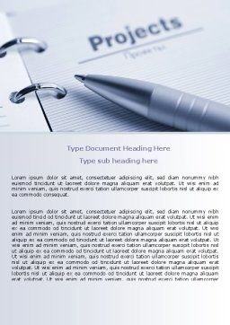 Project Description Word Template, Cover Page, 07802, Business Concepts — PoweredTemplate.com