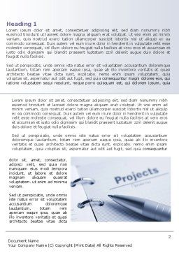 Project Description Word Template, First Inner Page, 07802, Business Concepts — PoweredTemplate.com