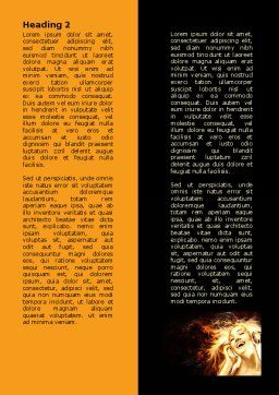 Flame Girl Word Template, Second Inner Page, 07807, Careers/Industry — PoweredTemplate.com