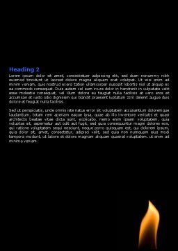 Inside Energy Word Template, Second Inner Page, 07808, Careers/Industry — PoweredTemplate.com