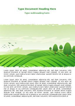Green Hills Word Template, Cover Page, 07809, Agriculture and Animals — PoweredTemplate.com