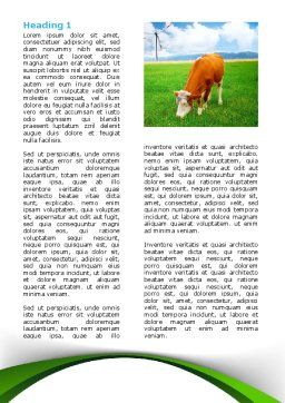 Grazing Cow Word Template, First Inner Page, 07811, Agriculture and Animals — PoweredTemplate.com