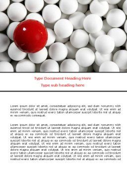 Red Ball Of White Word Template, Cover Page, 07812, Consulting — PoweredTemplate.com