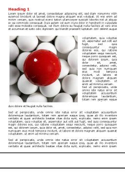 Red Ball Of White Word Template, First Inner Page, 07812, Consulting — PoweredTemplate.com
