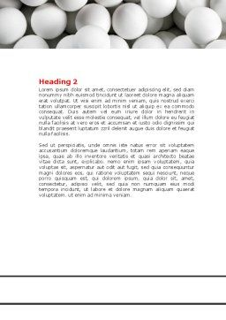 Red Ball Of White Word Template, Second Inner Page, 07812, Consulting — PoweredTemplate.com