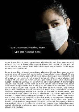 Sanitary Mask Word Template, Cover Page, 07814, Medical — PoweredTemplate.com